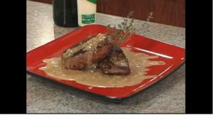 Steak Au Poivre with Dijon Cream Sauce