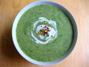 Cream of Spinach and Basil Soup