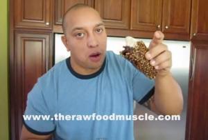 Raw And Vegan Chocolate Fudge Brownie Taco