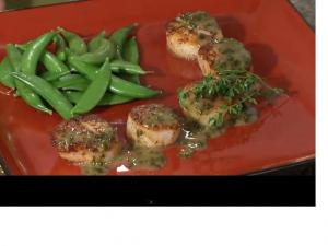 Blackened Sea Scallops