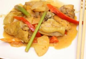 Pininyahang Manok with Red Bell Pepper