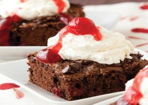 Black Forest Brownie Sundae