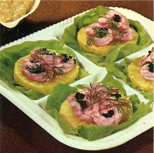 Shrimp Salad with Celery Root & Caviar