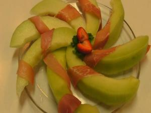Prosciutto-Wrapped Melon -- Easter