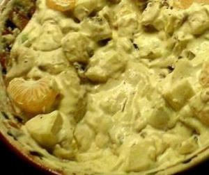 Grapes And Pineapple In Sour Cream
