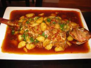 Fish Braised in Chili Bean Sauce