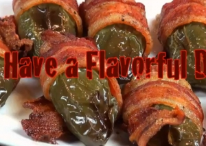 Cheesy Jalapeno Poppers Wrapped in Bacon