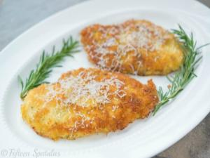Crispy Parmesan Crusted Chicken- Quick Weeknight Dinner