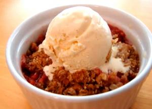 Strawberry And Rhubarb Crisp