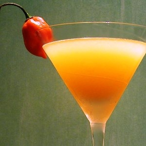 Hot and spicy chili martini.