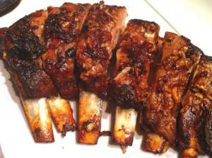 Barbecued Breast Of Lamb