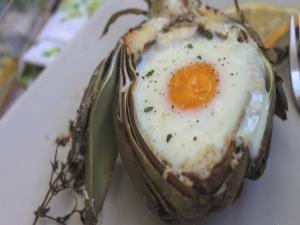 Artichoke Baked Egg