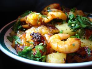 Shrimp and Jicama In Soy Sesame Sauce