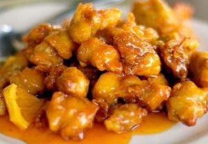 Chicken With Orange And Almond Sauce