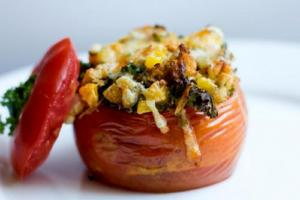 Iowa Corn Stuffed Tomatoes