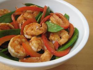 Stir-Fried Shrimp with Snow Peas