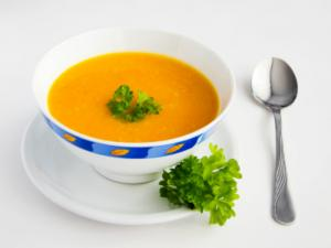 Southwest Pumpkin Soup with Avocado and Jalapeno Salsa