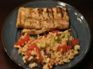 Grilled Mahi Mahi with a Side of Couscous
