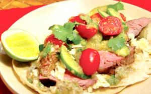 Flank Steak Taco with Salsa Verde