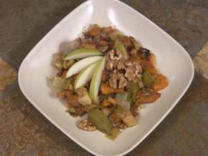 Leek Butternut Squash Salad