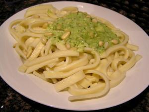 Pasta with Light Basil Pesto