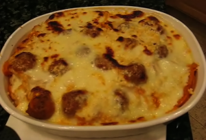 Baked Pasta With Cheesy Meatballs
