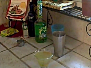 How to Make a Sour Patch Green Apple Martini
