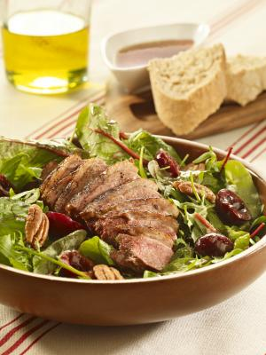 Picota Cherry and Duck Salad