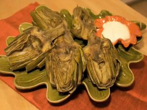 Grilled Artichokes with Garlic Mayonnaise: On the Side #9