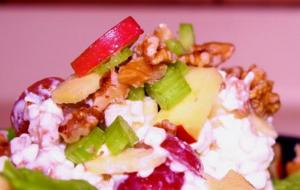 Cheesy Waldorf Salad