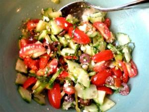 Crispy And Crunchy Salad With Herb And Walnut Dressing