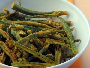 Crispy Masala Bhindi by Tarla Dalal