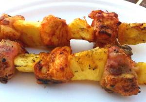 Pineapple Chicken Kebabs
