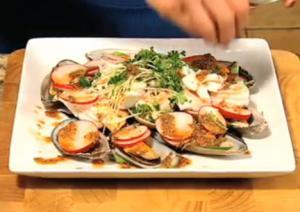 Fresh Seafood Salad with Balsamic Gochujang Dressing