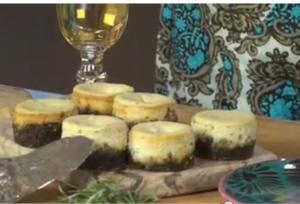 Petite Blue Cheesecakes