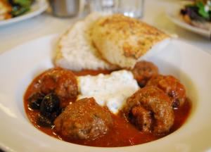 Kefta-Style Meatballs With Grilled Grapes And Yogurt Sauce Recipes ...