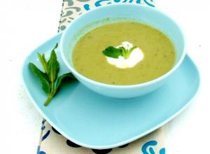 Minted Lettuce Soup
