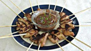 Chicken Skewers Peanut Sauce