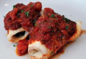 Haddock With Tomato Wine Sauce