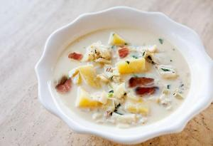 Fish Chowder With Bacon