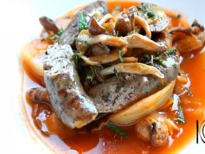 Lamb Sausage with Braised Fennel & Mushroom Ragu