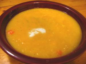 Cream Of Curried Pea Soup