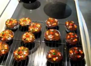 Confetti Blood and Goo festive sprinkle topped Halloween Cupcake