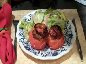 Stuffed Lean Ground Pork Tomatoes