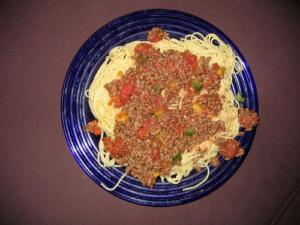 Pasta with Ground Veal and Mushrooms in Tomato Cream
