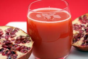 Pomegranate juice has several beneficial properties good for health