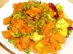 Gajar Matar curry dry