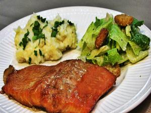 Bourbon Marinated Salmon