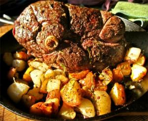 Apple Glazed Leg of Lamb