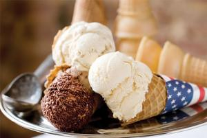 Ice cream is one among the most romantic foods.